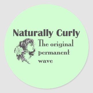 Olde World Naturally Curly Classic Round Sticker