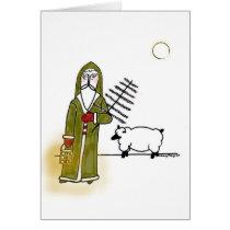 Olde World Santa n Sheep Card