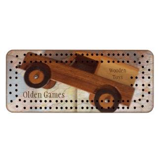 Olden Games Wooden Toys Cribbage Set Cribbage Board