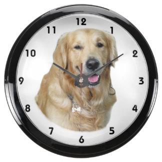 olden Retriever dog photo portrait Aquavista Clocks