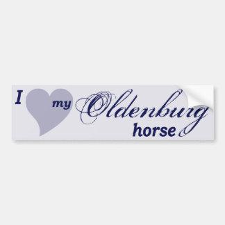 Oldenburg horse bumper sticker
