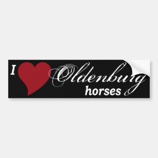 Oldenburg horses bumper sticker