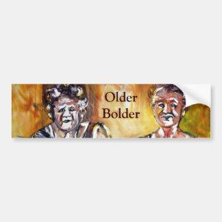 Older Bolder Ladies Bumper Sticker