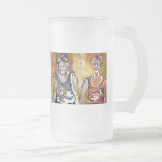 Older Bolder Ladies Frosted Glass Beer Mug