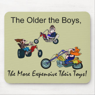 Older Boys More Expensive Toys Motorcycles Mouse Pad