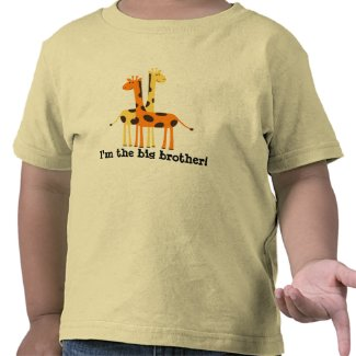 Older Brother / Older Sister Giraffe T Shirt