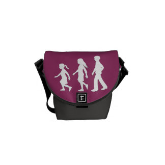 Older Brother, Younger Sisters: Silhouettes Messenger Bag