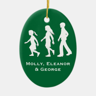 Older Brother, Younger Sisters: Silhouettes Christmas Ornament