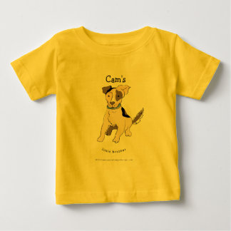 older child name [customize] 'little brother' T-Sh Baby T-Shirt