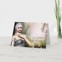 Older Grey Elf - Fantasy Mother's Day Card