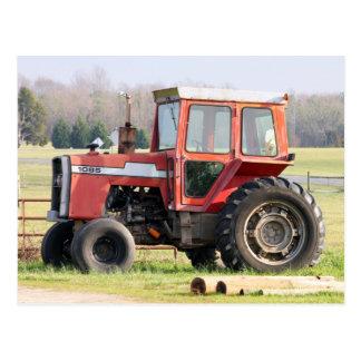Older Idle Tractor Postcard