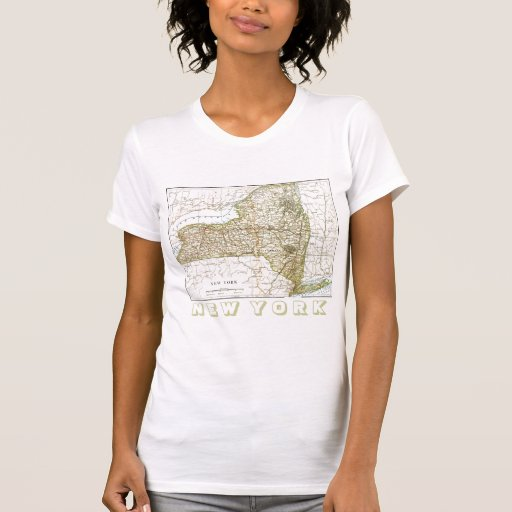 Older Map of New York State T-Shirt
