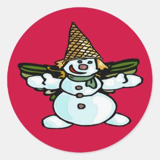 Older New Orleans Snowman, Mr Bangle Classic Round Sticker