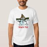 Older New Orleans Snowman, Mr Bangle, Where Yat Tee Shirt