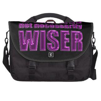 older not wiser computer bag