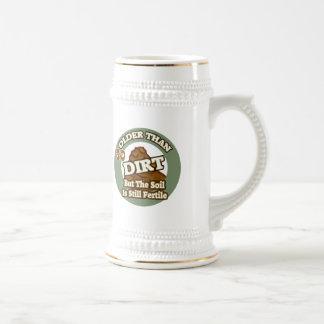Older Than Dirt 30th Birthday Gifts 18 Oz Beer Stein