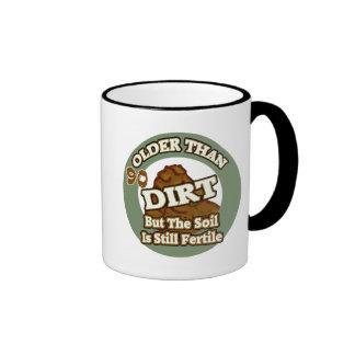 Older Than Dirt 90th Birthday Gifts Ringer Mug