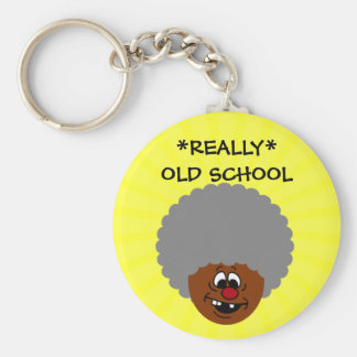 Older than dirt and proud of it senior citizen basic round button keychain