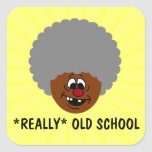 Older than dirt and proud of it senior citizen square stickers