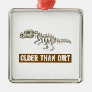 Older than dirt metal ornament