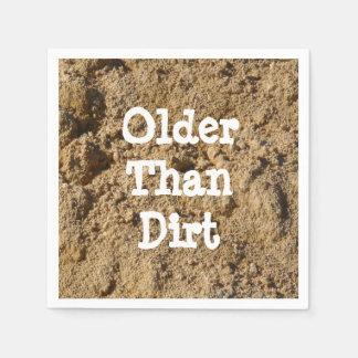 Older Than Dirt Paper Cocktail Napkin