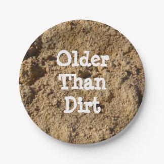 Older Than Dirt Paper Plates