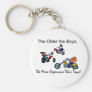 Older the Boys The More Expensive Toys Keychain