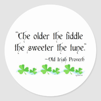 Older the fiddle classic round sticker