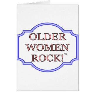 Older women rock card