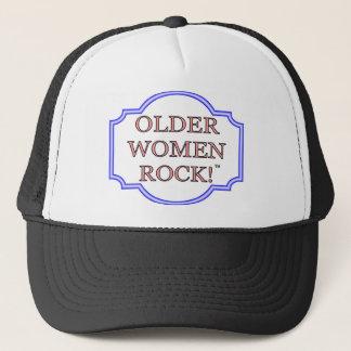 Older women rock trucker hat
