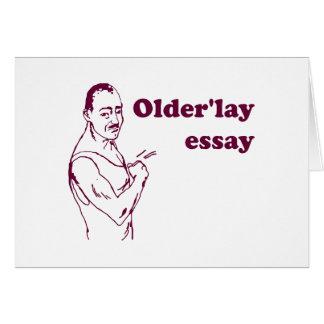 Olderlay Essay Greeting Cards