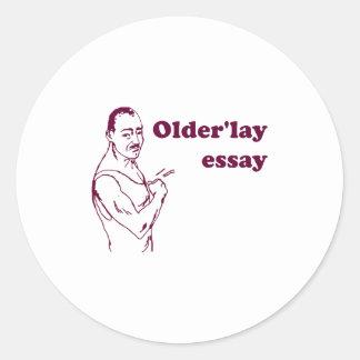Olderlay Essay Classic Round Sticker