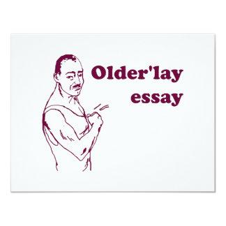 Olderlay Essay Invite