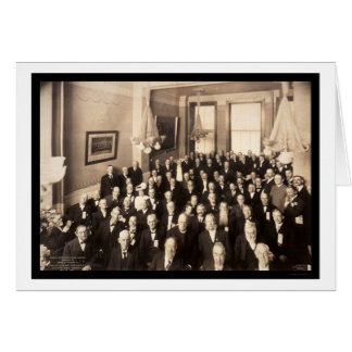 Oldest Citizens Lunch Photo 1907 Greeting Card