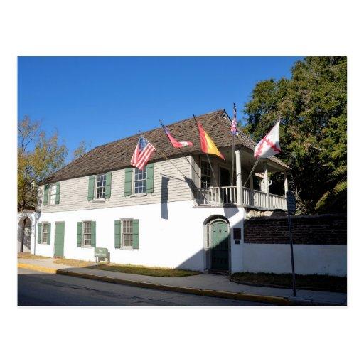 oldest house st augustine florida postcard