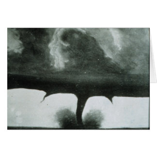 Oldest Known Photograph of a Tornado from 1884 Greeting Card