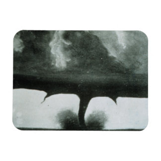Oldest Known Photograph of a Tornado from 1884 Rectangular Photo Magnet