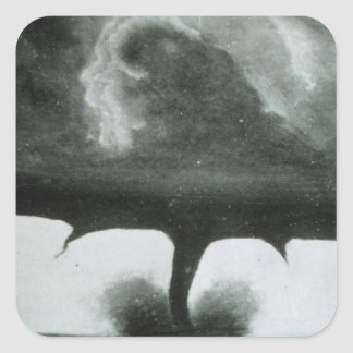 Oldest Known Photograph of a Tornado from 1884 Square Sticker