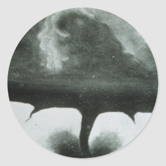 Oldest Known Photograph of a Tornado from 1884 Classic Round Sticker