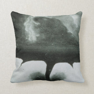 Oldest Known Photograph of a Tornado from 1884 Throw Pillow