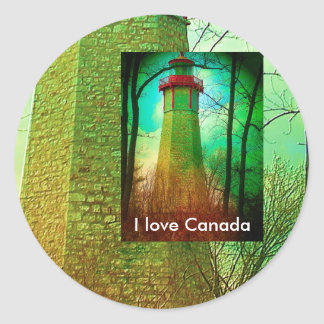 Oldest Light House in Toronto Classic Round Sticker