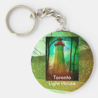 Oldest Light House in Toronto Key Chains