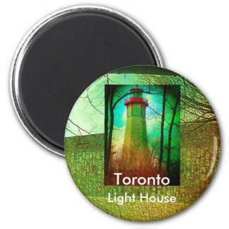 Oldest Light House in Toronto 2 Inch Round Magnet