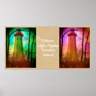 Oldest Light House Toronto Island Poster