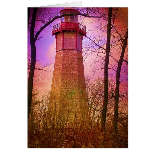 Oldest Light House Toronto Island V2 Card