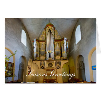 Oldest organ in the world holiday greetings card