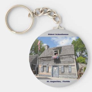 Oldest School House St. Augustine Fl Keychain