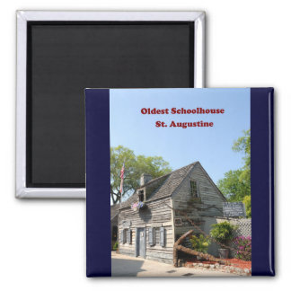 oldest wooden school house 2 inch square magnet