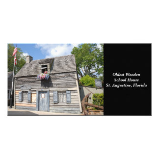 Oldest Wooden School House photo card