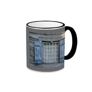 oldest wooden school house window ringer mug